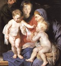 the holy family with sts elizabeth and john the baptist