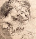 two young women with a dog 1616