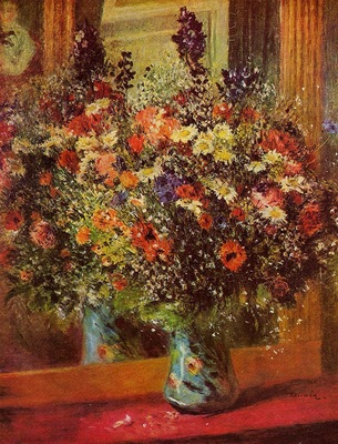 bouquet in front of a mirror 1876