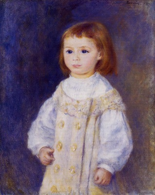 child in a white dress also known as lucie berard