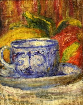 Cup and Fruit