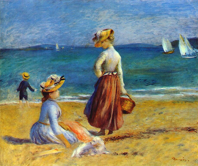 Figures on the Beach 1890s