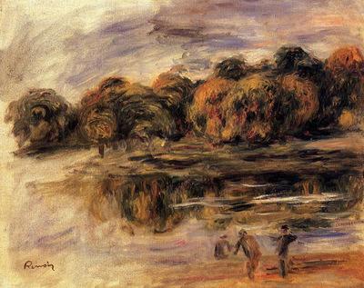 Fishermen by a Lake