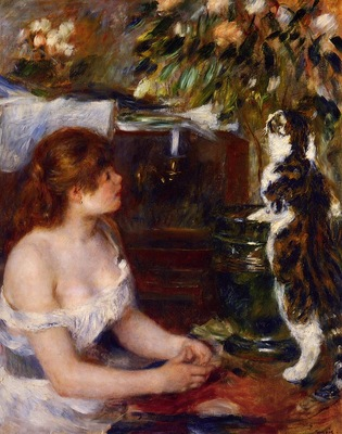girl and cat 1881