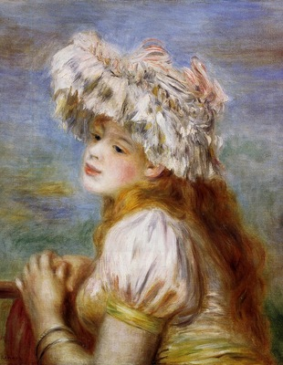 girl in a lace hat