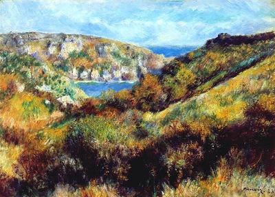 hills around moulin huet bay guernsey