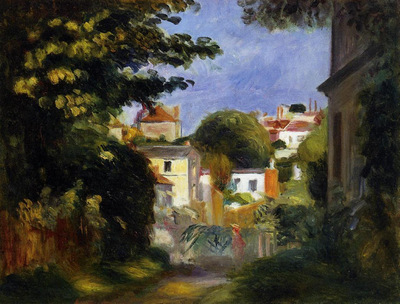 House and Figure among the Trees