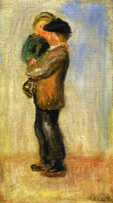 Man Carrying a Boy