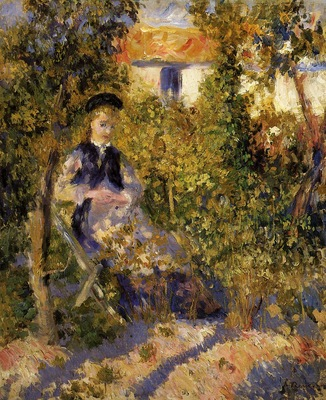nini in the garden 1875