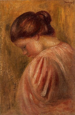 portrait of a girl in red