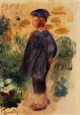 portrait of a kid in a beret