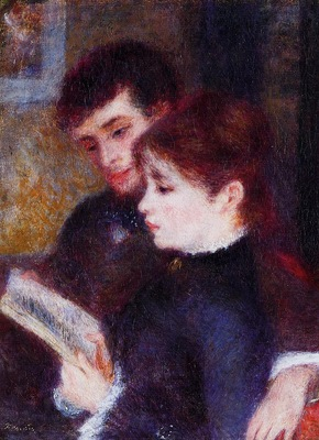 reading couple also known as edmond renoir and marguerite legrand