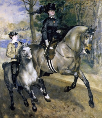 riding in the bois de boulogne also known as madame henriette darras or the ride