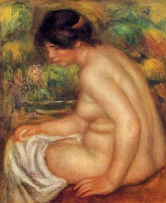 seated nude in profile also known as gabrielle