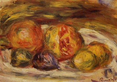 still life pomegranate figs and apples 1914