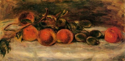 Still Life with Peaches and Chestnuts