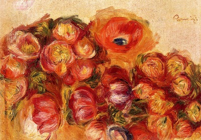 Study of Flowers Anemones and Tulips