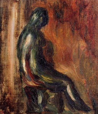 study of a statuette by maillol