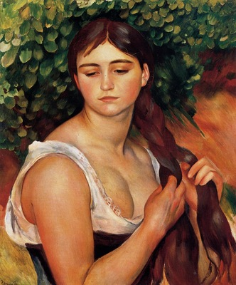 the braid also known as suzanne valadon 1884