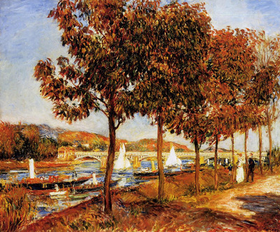 the bridge at argenteuil in autumn