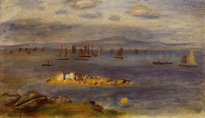 the coast of brittany fishing boats