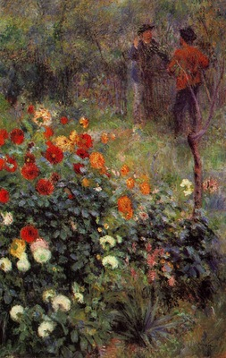 the garden in the rue cortot at montmartre