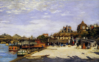 the pont des arts and the institut de france