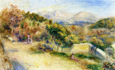 the view from collettes cagnes 1910