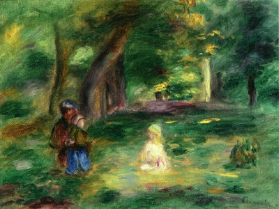 Three Figures in a Landscape