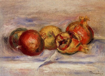 Three Pomegranates and Two Apples