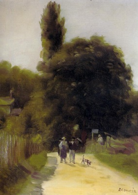 two figures in a landscape 1865