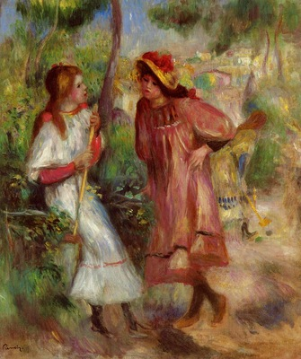 two girls in the garden at montmartre