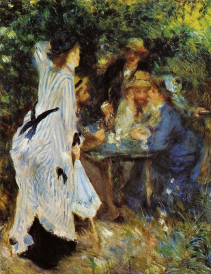 under the arbor at the moulin de la galette
