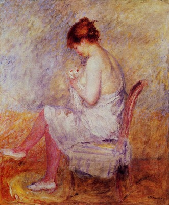 woman in a chemise 1897