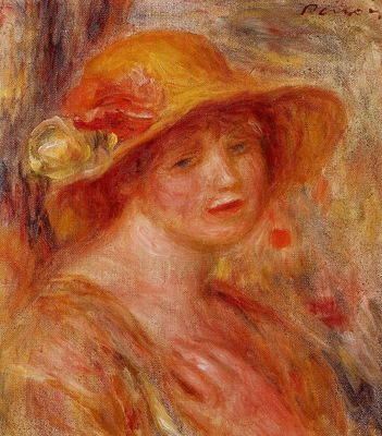 woman in a straw hat 1916