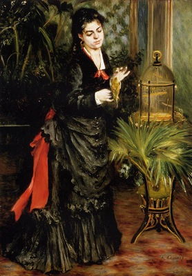 woman with a parrot also known as henriette darras