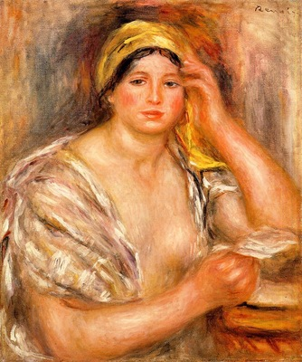 woman with a yellow turban