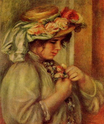 young girl in a hat