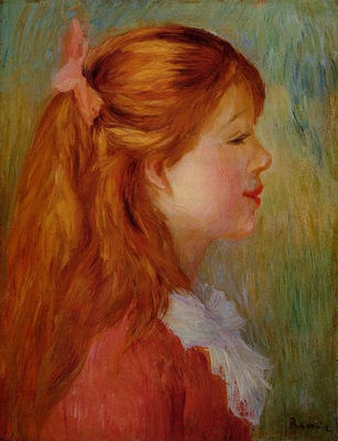 Young Girl with Long Hair in Profile 1890 Private collection
