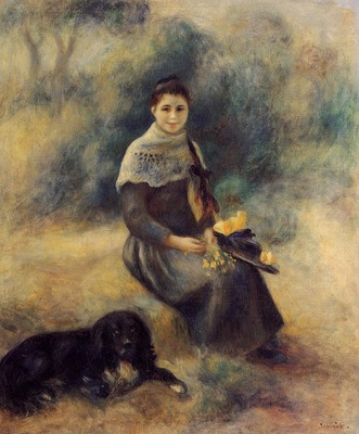 Young Girl with a Dog 1888  Private collection