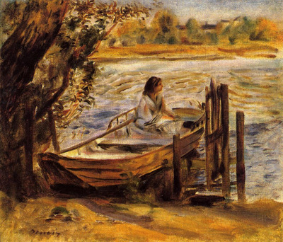 young woman in a boat also known as lise trehot