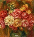 Bouquet of Roses in a Green Vase1