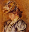girl in a flowery hat 1905