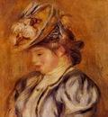 girl in a flowery hat 1905