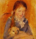 girl with a dog
