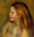 head of a little girl in profile