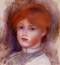 head of a young woman 1892