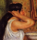 la toilette woman combing her hair 1907