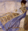 madame monet on a sofa