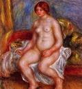 nude woman on gree cushions